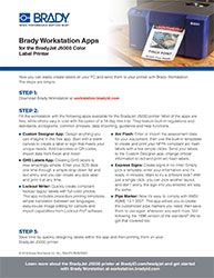 BradyJet J5000 Informational Sheet